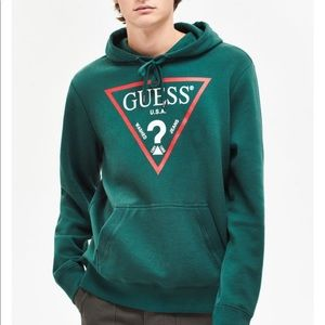 Guess Green Hoodie Size XL